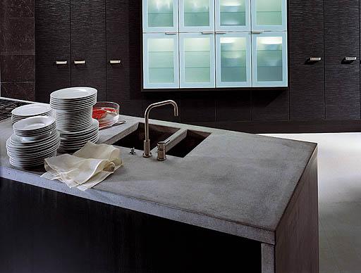 Beton Gegossen Müllsack Kücheninsel Thomas Linssen
